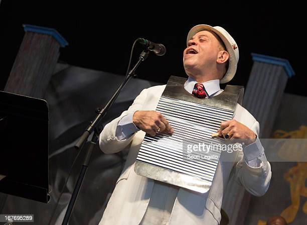 Deacon John performs during the 2013 New Orleans Jazz & Heritage Music Festival at Fair Grounds Race Course on April 27, 2013 in New Orleans,...
