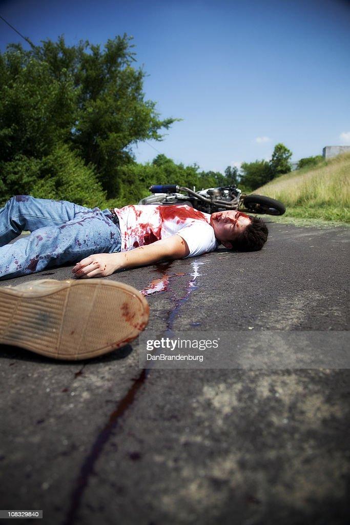 Dead Biker : Stock Photo