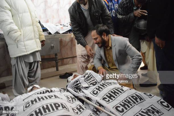 Dead bodies of a bomb attack victims are taken to a hospital after a suicide attack at Bethel Memorial Methodist Church in Quetta Pakistan on...