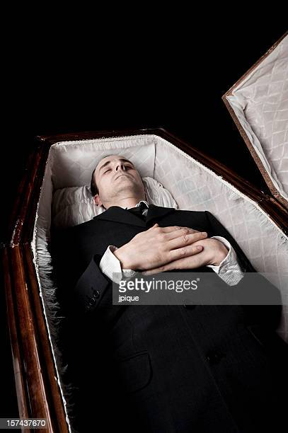 Dead body in a coffin