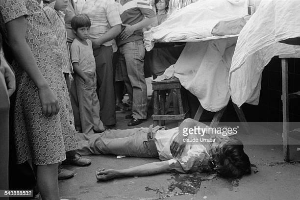 Dead body in San Salvador street