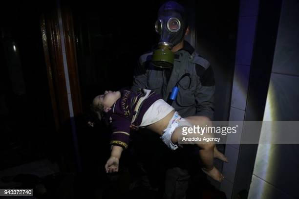 EDITORIAL USE ONLY MANDATORY CREDIT SYRIAN CIVIL DEFENSE / HANDOUT NO MARKETING NO ADVERTISING CAMPAIGNS DISTRIBUTED AS A SERVICE TO CLIENTS A dead...
