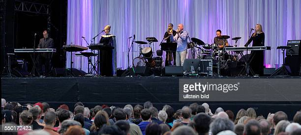 Dead Can Dance, Worldmusic, Australia, Citadel Music Festival 2013, performing on June 17 at Zitadelle, Spandau, Berlin, Germany, overview, stage