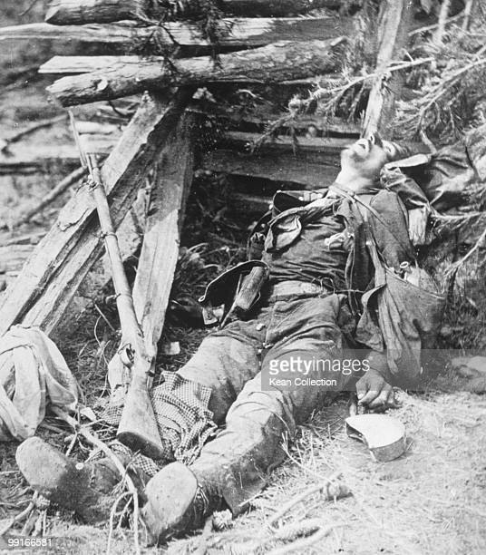 A dead confederate soldier of Ewell's corp during the battle of Spottsylvania Virginia on 19 May 1864