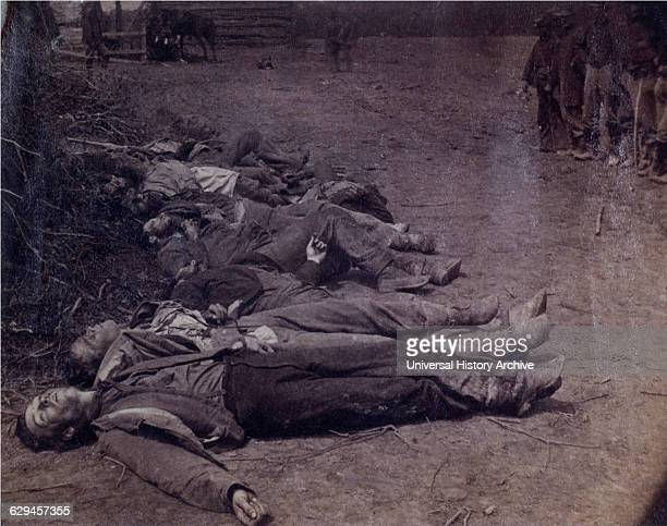 Dead Confederate Soldiers near Spotsylvania Courthouse Virginia 1864