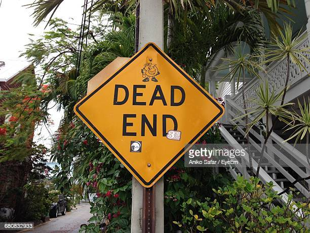 Dead End Information Sign In A Residential District