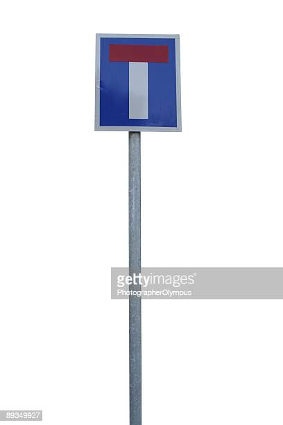 dead end sign - pole stock pictures, royalty-free photos & images