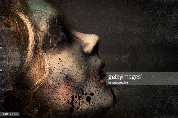 dead girl - silicon sculpture - death stock pictures, royalty-free photos & images