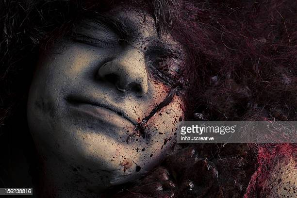 dead girl - silicon sculpture - murder victim stock pictures, royalty-free photos & images