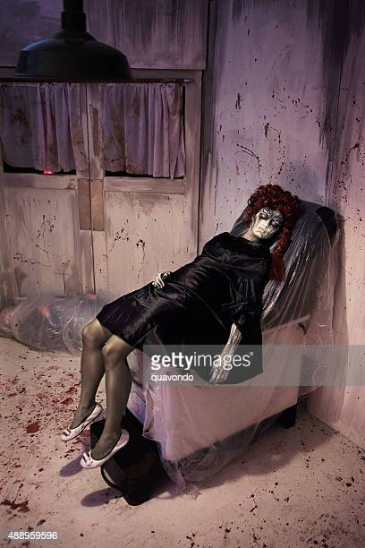 dead girl with painted face - dead girl stock pictures, royalty-free photos & images