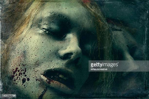 dead girls - silicon sculpture - cadaver stockfoto's en -beelden