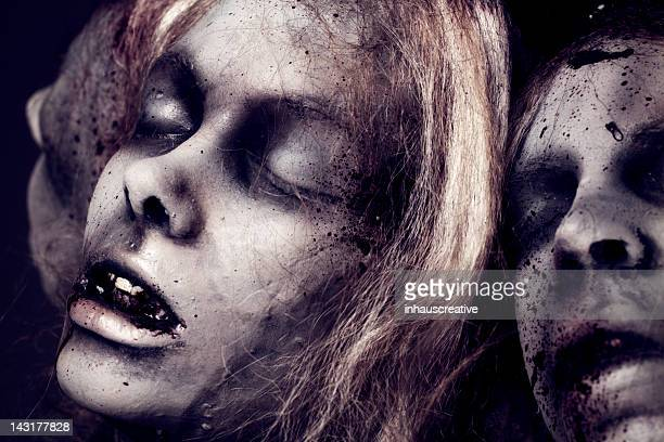dead girls - silicon sculpture - murder victim stock pictures, royalty-free photos & images