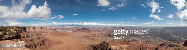 dead horse point panoramic overlook, utah. - dead horse point state park stock pictures, royalty-free photos & images