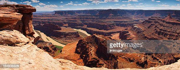 dead horse point state park panoramic, utah, usa. - dead horse point state park stock pictures, royalty-free photos & images