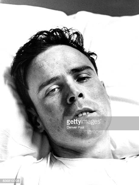 APR 7 1965 'Dead' Lineman Recovering Robert Williamson of 4521 W 35th Ave who was technically 'dead' for 50 minutes Monday afternoon is shown at...