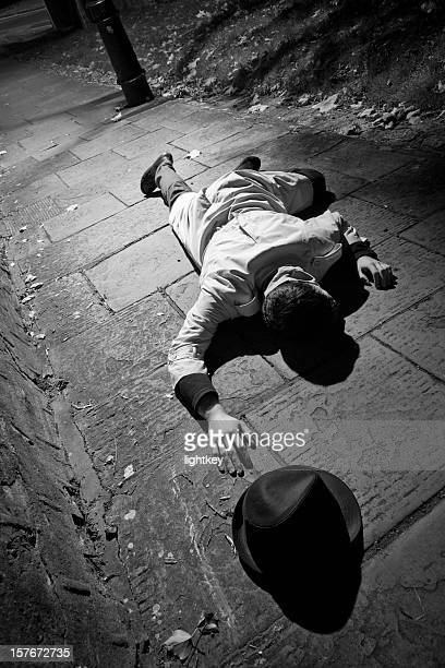 dead man - vintage crime scene photos stock pictures, royalty-free photos & images