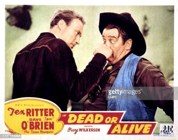 Dead Or Alive lobbycard Dave O'Brien 1944