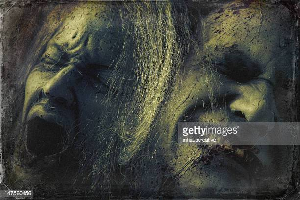 dead pain - silicon sculpture - murder victim stock pictures, royalty-free photos & images