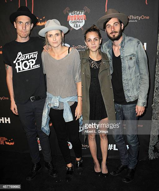Dead Sara arrives for the Los Angeles Haunted Hayride held at Griffith Park on October 9 2014 in Los Angeles California