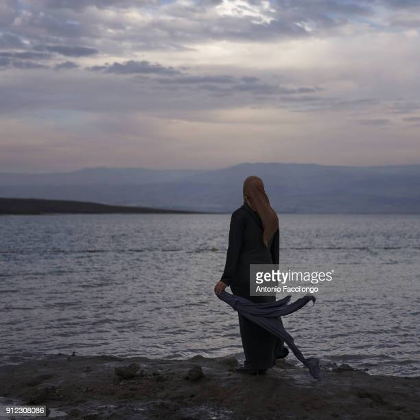 Dead Sea Dweidar Awad is the wife of Zuhair who is a Palestinian prisoner detainee in Israeli jail This is the first time that Dweidar goes to the...