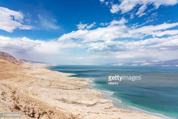 costa del mar muerto ein gedi israel - paisajes de jordania fotografías e imágenes de stock