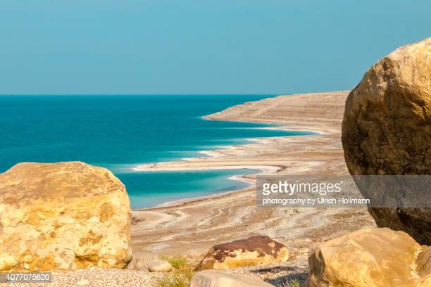 dead sea, jordan - mar muerto fotografías e imágenes de stock