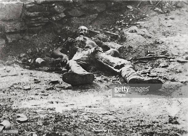 Dead soldier at the Isonzo Photography 1917 [Toter Soldat am Isonzo Photographie 1917]