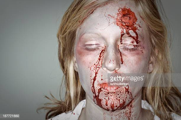 dead woman - zombie face stock photos and pictures