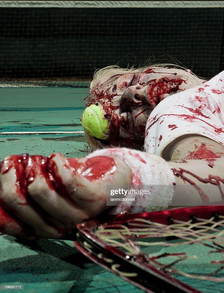 dead zombie Joueur de tennis : Photo