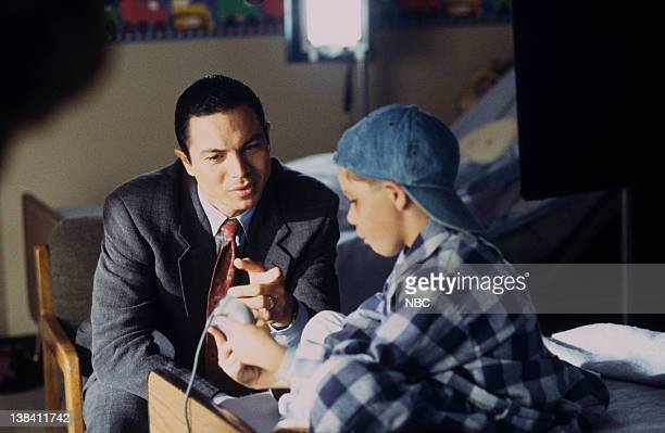 LAW ORDER Deadbeat Episode 7 Air Date Pictured Benjamin Bratt as Detective Rey Curtis J Evan Bonifant as Joey Reynolds