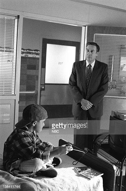 LAW ORDER Deadbeat Episode 7 Air Date Pictured Jerry Orbach as Detective Lennie Briscoe J Evan Bonifant as Joey Reynolds