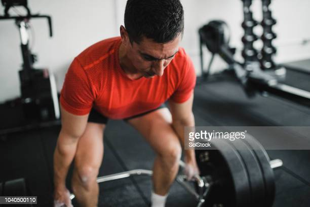 deadlifting in the gym - body building stock pictures, royalty-free photos & images