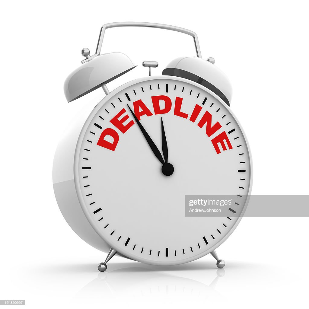 Deadline Alarm Clock : Stock Photo