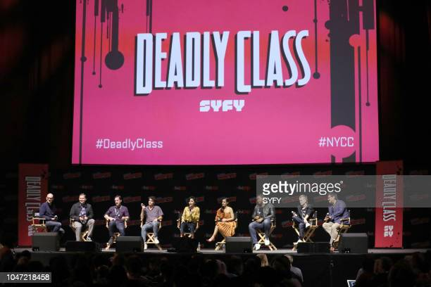 CON Deadly Class Panel Pictured Dominic Patten Rick Remender Wes Craig Benjamin Wadsworth Lana Condor María Gabriela De Faría Luke Tennie Liam James...