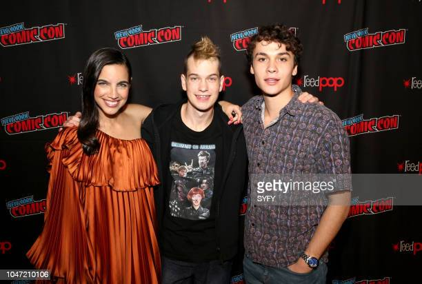 CON Deadly Class Press Room Pictured María Gabriela De Faria Liam James Benjamin Wadsworth