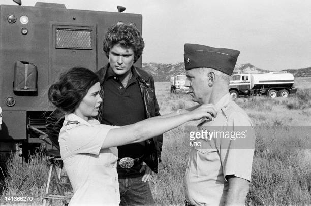 RIDER Deadly Maneuvers Episode 3 Pictured Devon Ericson as Robin Ladd David Hasselhoff as Michael Knight Alan Oppenheimer as General Duncton Photo by...