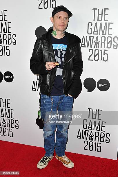 Deadmau5 arrives at The Game Awards 2015 at Microsoft Theater on December 3, 2015 in Los Angeles, California.