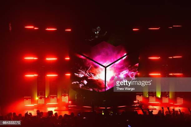 Deadmau5 performs at Hammerstein Ballroom on March 31, 2017 in New York City.