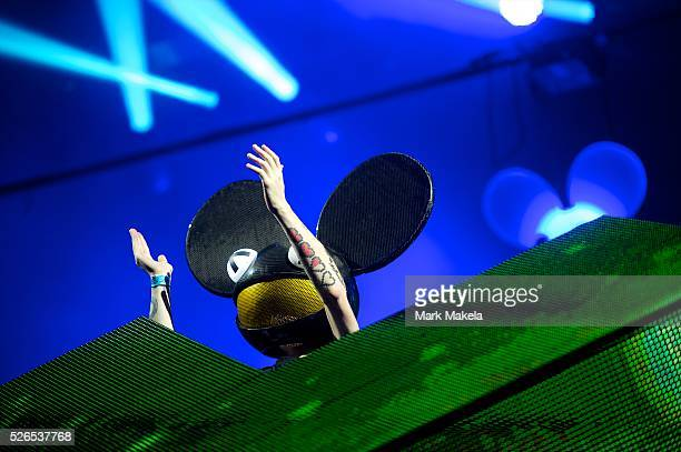 DeadMau5 performs at the Budweiser Made in America Music Festival in Philadelphia PA on August 31 2013