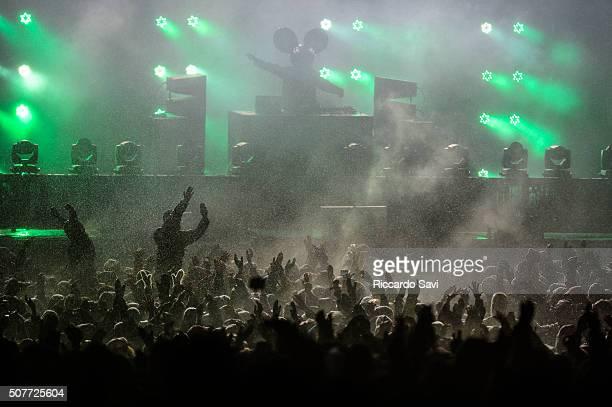 Deadmau5 performs at X Games Aspen 2016 on January 30 2016 in Aspen Colorado