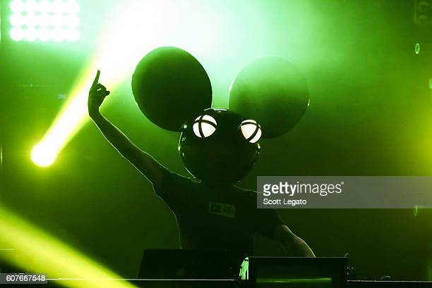 Deadmau5 performs during Music Midtown 2016 at Piedmont Park on September 18 2016 in Atlanta Georgia