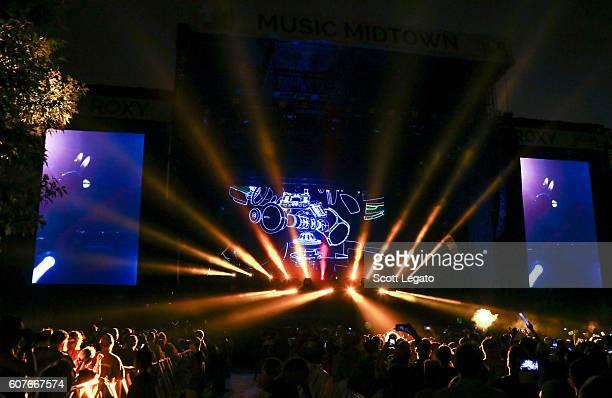 Deadmau5 performs during Music Midtown 2016 at Piedmont Park on September 18 2016 in Atlanta Georgia