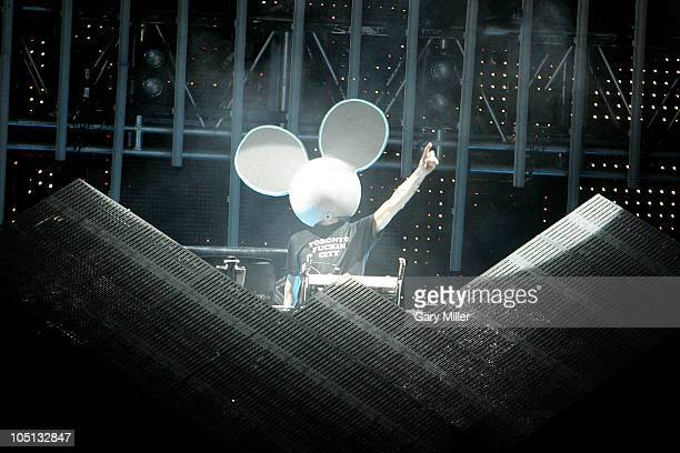 Deadmau5 performs during the second day of the Austin City Limits music Festival at Zilker Park on October 9 2010 in Austin Texas