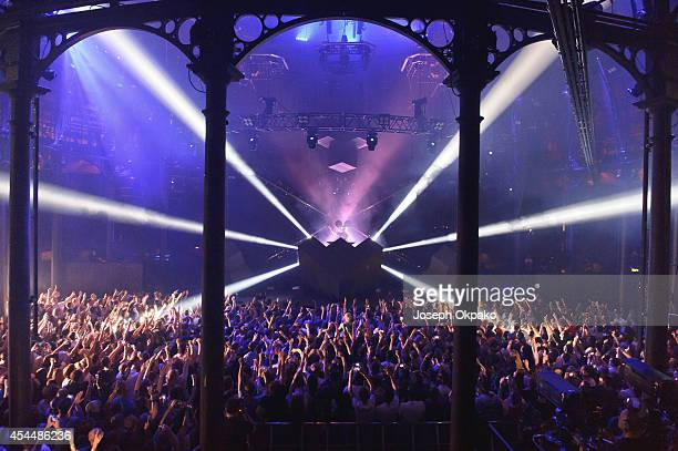 Deadmau5 performs on stage for iTunes Festival at The Roundhouse on September 1 2014 in London United Kingdom
