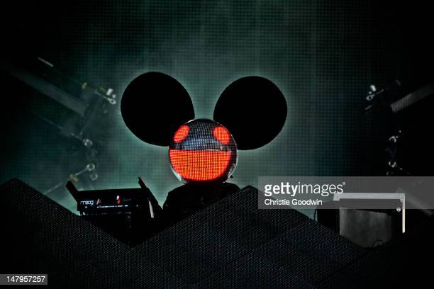Deadmau5 performs on stage on Day1 of Wireless Festival at Hyde Park on July 6, 2012 in London, United Kingdom.