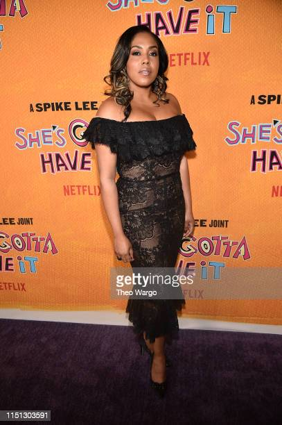 De'Adre Aziza attends the She's Gotta Have It Season 2 Premiere at Alamo Drafthouse on May 23 2019 in Brooklyn New York