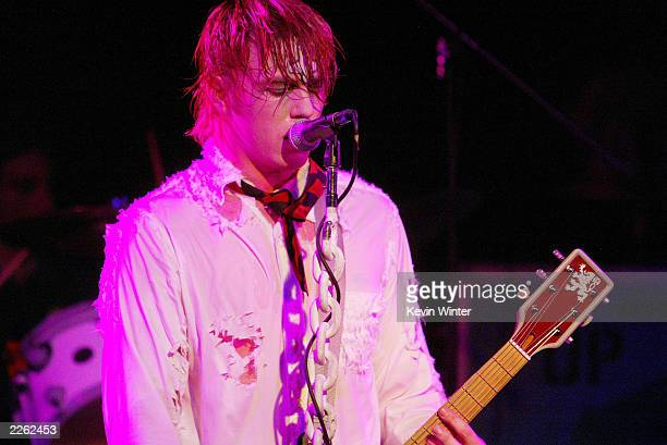 Deadsy with singer P Exeter Blue 1 in concert at the Roxy Theatre in West Hollywood Ca Friday Sept 13 and Saturday Sept 14 2002 Photo by Kevin...