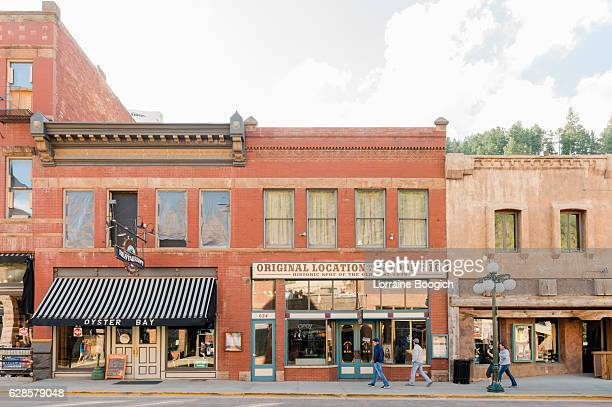 deadwood south dakota western architecture small town american history usa - south dakota stock photos and pictures