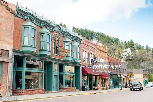 deadwood south dakota wild western small town american history usa - south dakota stock pictures, royalty-free photos & images