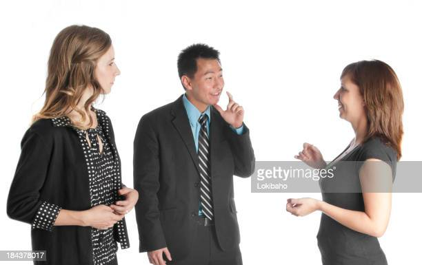 Deaf Coworkers Talking Together